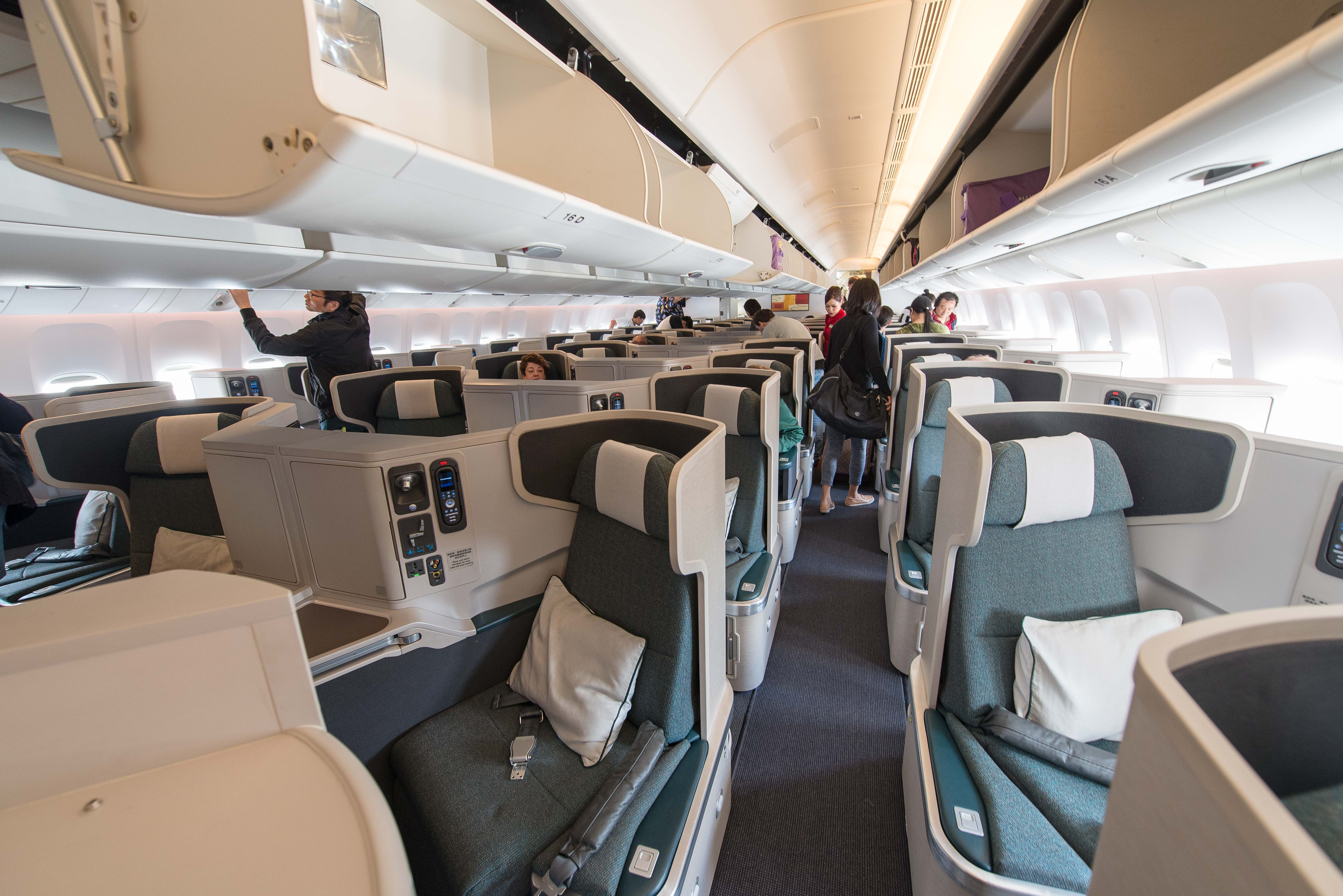 Cathay Pacific 77W Business Class Seat