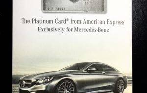 for Mercedes benz american express platinum